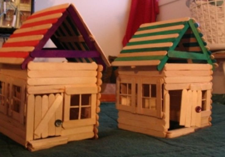 How to make doll furniture out of popsicle sticks House projects plans