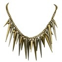 Gouden spikes ketting