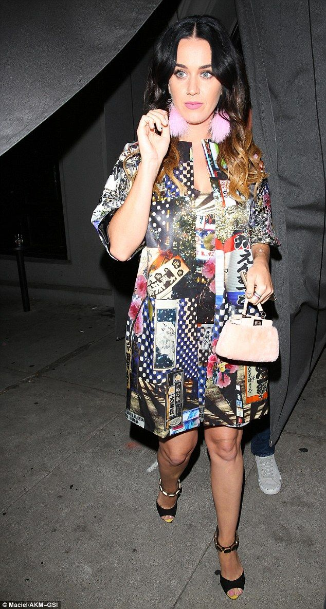 Fashionista: Katy Perry certainly donned a typically outlandish style when she headed on a...
