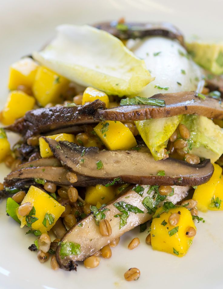 Mushroom Mango Salad