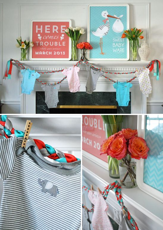 best baby clothes line images on   shower ideas, Baby shower invitation