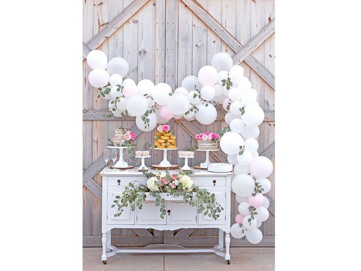 How to DIY a simple balloon garland.   | party | balloons | decor |