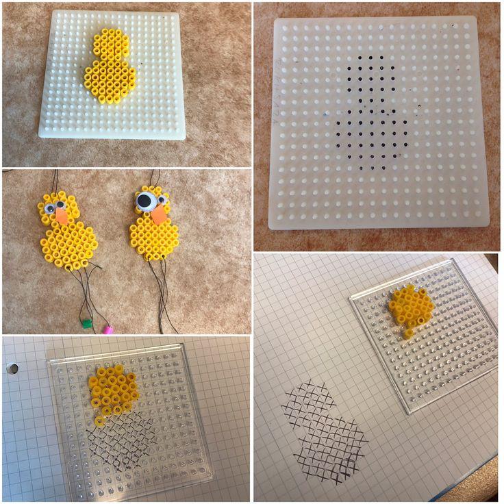 """@specialpedagogik_i_forskolan på Instagram: """"Här skapar vi kycklingar, anpassningen här är att vi målat mönstret direkt på pärlplattan eller gjort ett mönster med hjälp av rutigt…"""""""