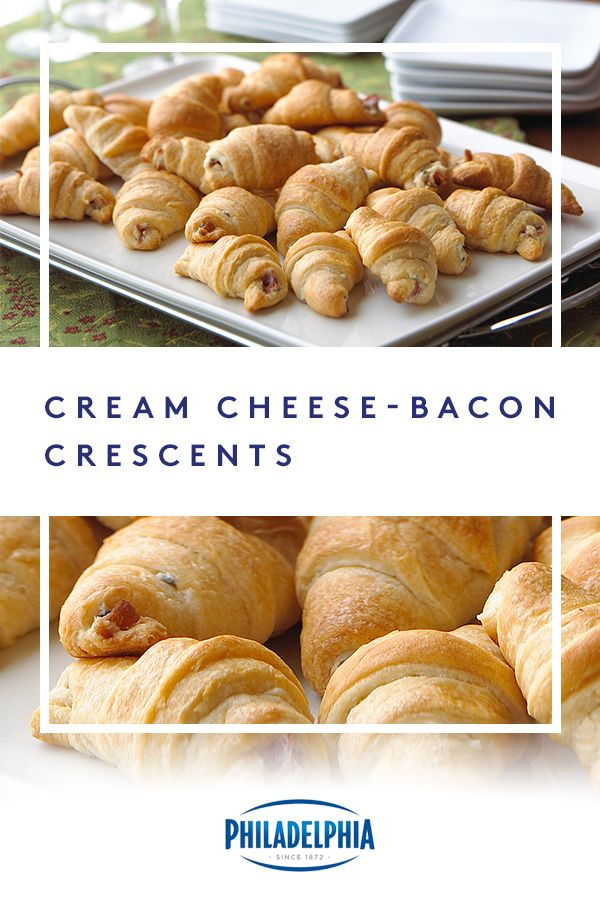 These PHILADELPHIA Cream Cheese Bacon Crescents will get you nominated for best host. Make them with just three easy ingredients: our PHILADELPHIA Chive & Onion Cream Cheese Spread, OSCAR MAYER bacon, and crescent dinner rolls. #ItMustBeThePhilly