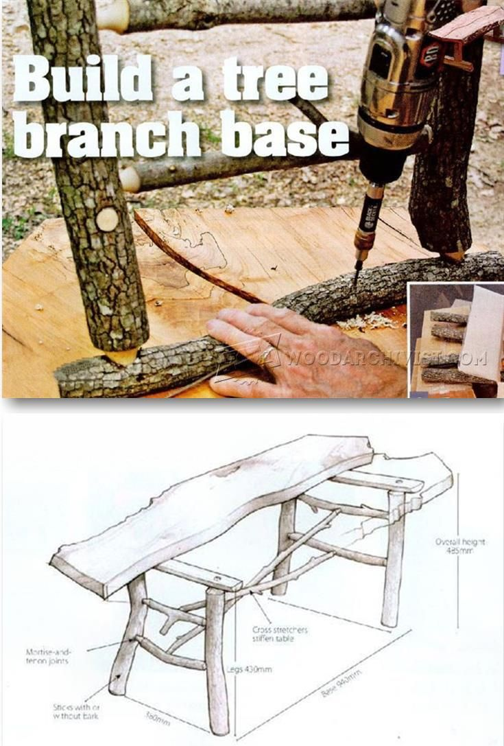 Build Tree Branch Table - Woodworking Tips and Techniques | WoodArchivist.com