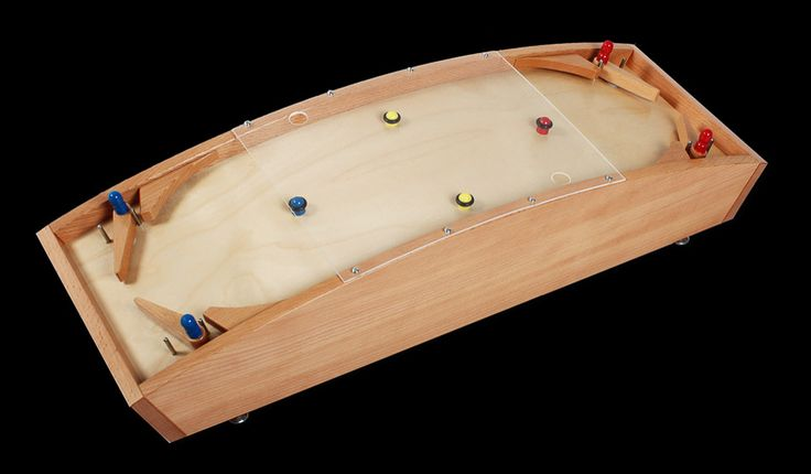 Bombix - Wood Pinball Vintage Antique Family Game good for adults and kids children in the basement DIY Idea