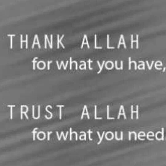 Alhamdullah for everything Allah has blessed me with, good and bad, it has only made me stronger.