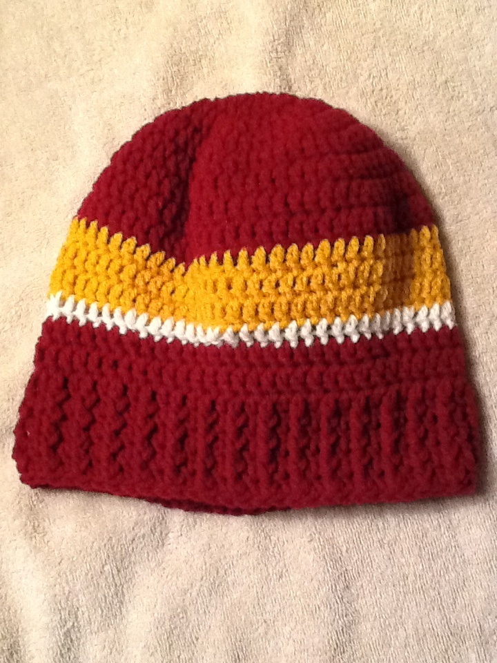 Washington Redskin Crocheted Hat Washington Redskins