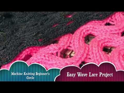 Easy Wavy Lace Machine Knitting Pattern - Beginner Friendly - YouTube