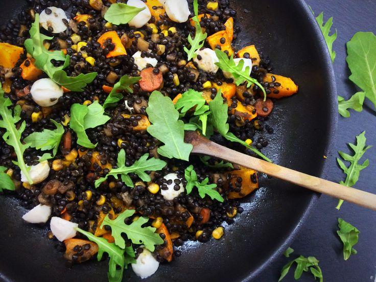 ČOČKA BELUGA s kořenovou zeleninou, dýní a mozzarellou