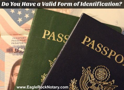 Acceptable Forms of ID - California Notary Public Guidelines