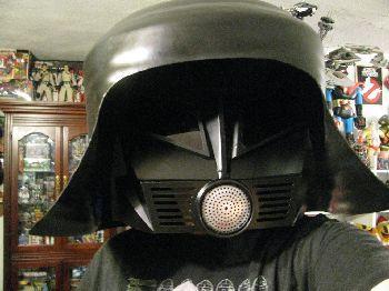 Spaceballs Dark Helmet Costume: - Plastic Waste Paper Basket - Drain Cover - Grate   -Paint - And Your Imagination!