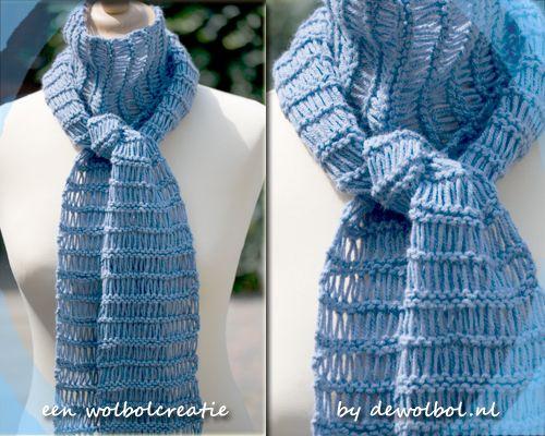 wolbolcreatie sjaal - the lazy scarf-  gratis patroon. Gehaakt met lammy standard