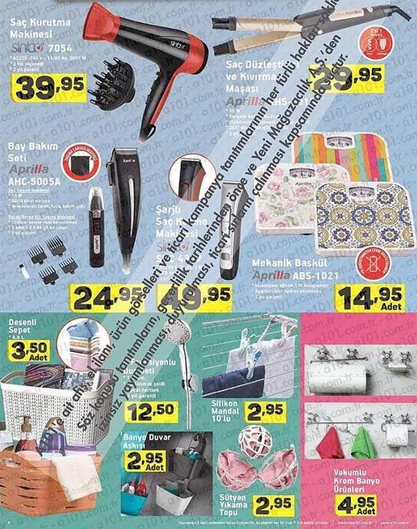A101 marketlerde aktüel ürün kampanyaları tüm hızıyla devam ediyor. A101'de bu hafta9 Mart - 16 Mart 2017 tarihleri arasında satışa sunulacak ürünler ortaya çıktı. A101 mağazalarında merakla beklenen aktüel ürünleri aşağıdaki a101 broşürlerinde inceleyebilirsiniz. Bu hafta mutfak ürünlerinden bilgisayar ürünlerine kadar bayan-erkek herkesi memnun edecek ürün ve fiyatlar sunuluyor.       A101 9 Mart Perşembe aktüel ürünler listesi  Akel Midi Fırın 115 TL Sinbo Çok Fonksiyonlu Öğütücü 39...