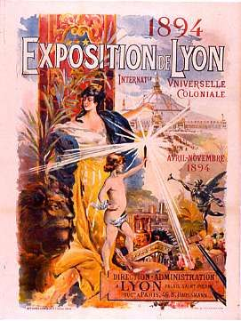 Exposition internationale universelle coloniale de Lyon  - 1 est. (affiche) : lithographie en couleur, 130 x 101 cm.  - (coll. Dutailly ; A 3254 - Photo : Christophe Jobard)