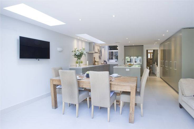 Fulham, SW6, Greater London, Side Extension, Kitchen Extension, Victorian Terraced House, Bi-Fold Doors, Kitchen, Rear Extension, Roof-lights, Glass Roof, Kitchen, Pitched Roof, Side Return Ideas, Kitchen Extension Ideas, Flat Roof, Kitchen Design