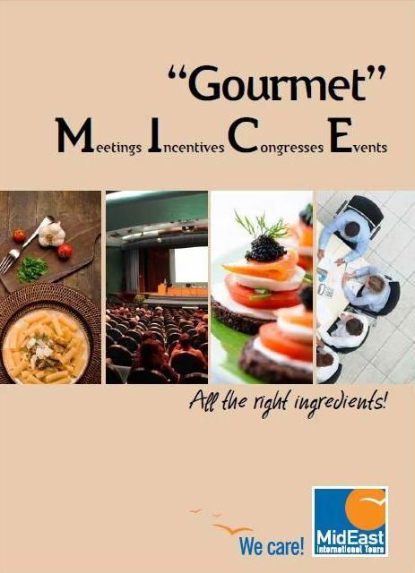 Gourmet M.I.C.E Trust MidEast for your meetings, incentives, congresses and events! http://www.mideast.com.gr/mideast-brochures/gourmet_mideast/