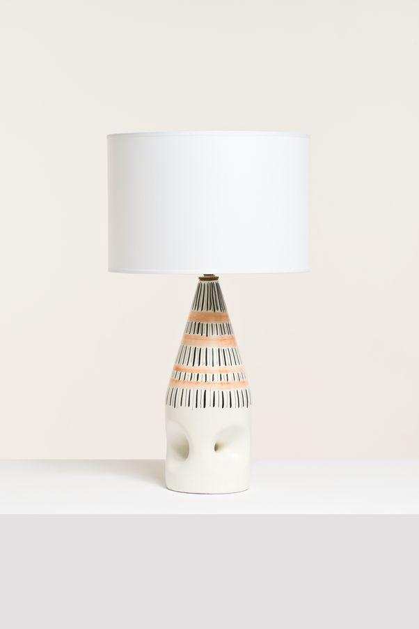 Roger Capron; Glazed Ceramic Table Lamp, 1950s.