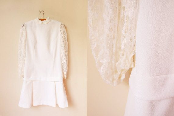 vintage 1960s white mod mini scooter dress with by starseedvintage