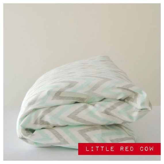 Minty 100% organic cotton Duvet Cover and Pillowcase on Etsy, $120.00 AUD