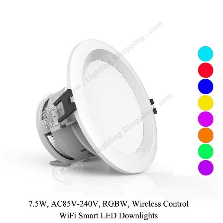 RGBW Wifi LED Downlights 7.5W -2 more details at >>> http://www.lightingshopping.com/rgbw-wifi-led-downlights-7-5w.html