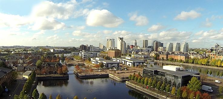 Aerial Photo of Salford Manchester UK by Aerialworx UAV Photography and Video