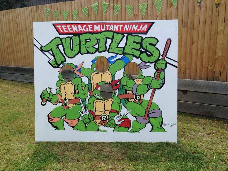 Stunning prop so kids could be the turtles!