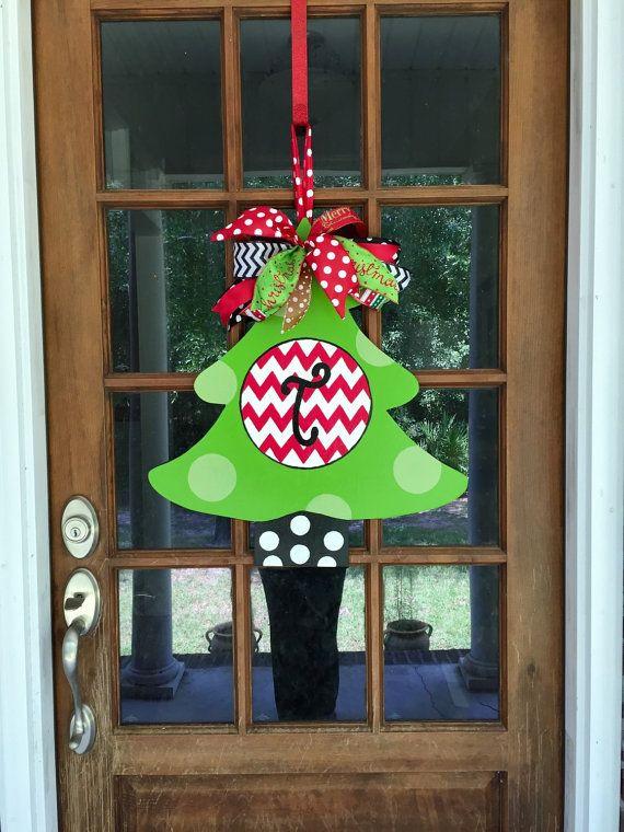 Best Christmas Tree Door Hangers Images On
