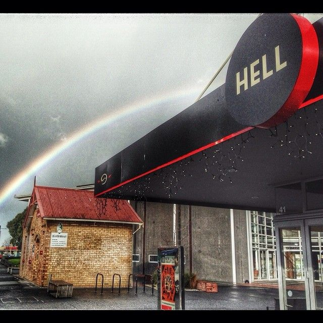 Up the road #winesearcher office lucky we work in Heaven... #rainbow land
