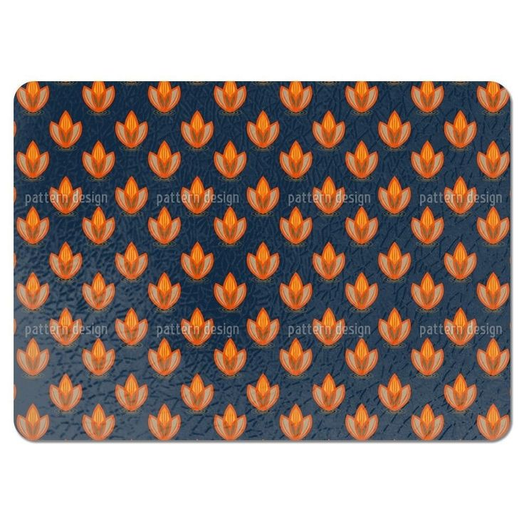 Uneekee Lotus Orange Placemats (Set of 4) (Lotus Orange Placemat) (Polyester, Floral)