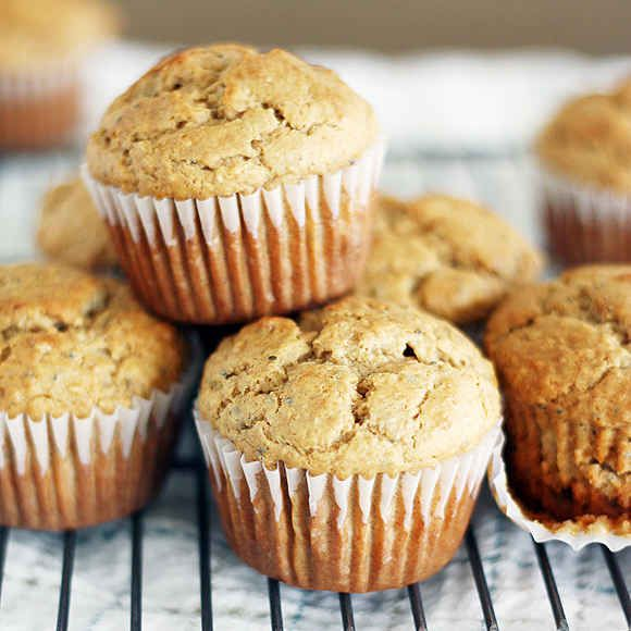 Banana-Peanut Butter Chia Seed Muffins   31 Healthy And Delicious Ways To Cook With Chia Seeds