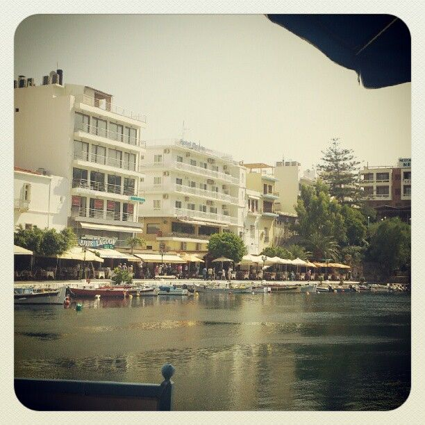 Agios Nikolaos, Crete. Sitting by the lake just outside the harbour.