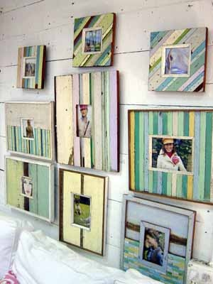 Beach cottage decor- I heart all of these frames!!!