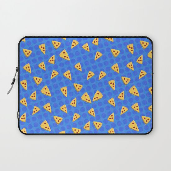 Pizza Slices Pattern Laptop Sleeve by Squibble