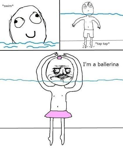 funny rage comic me gusta ballerina