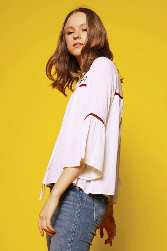 Long Sleeved Off-White Nayah | COTTONINK