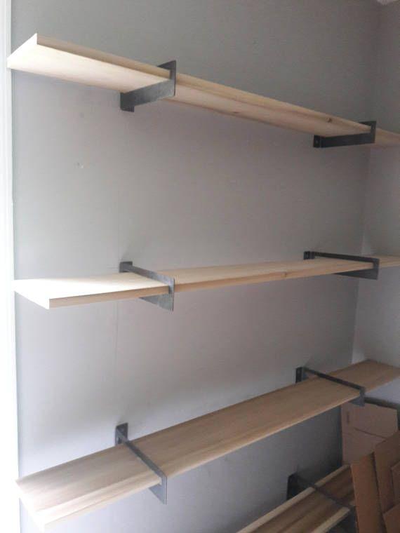 Standard Metal Shelf Brackets 2 Modern Contemporary Etsy Shelves Geometric Shelves Metal Shelves