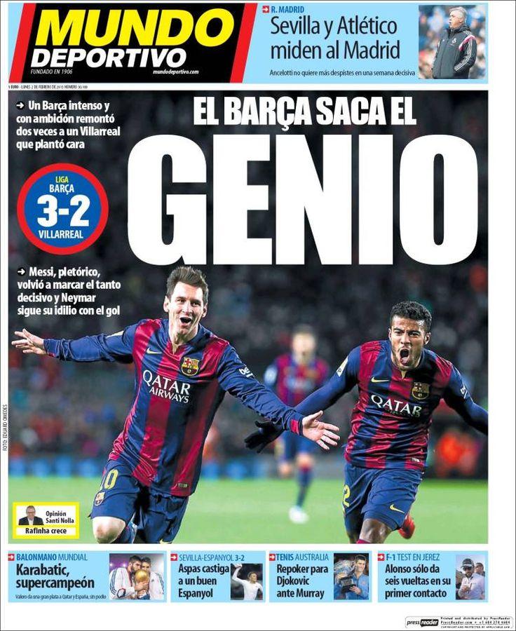 Portada Mundo Deportivo 2/02/2015