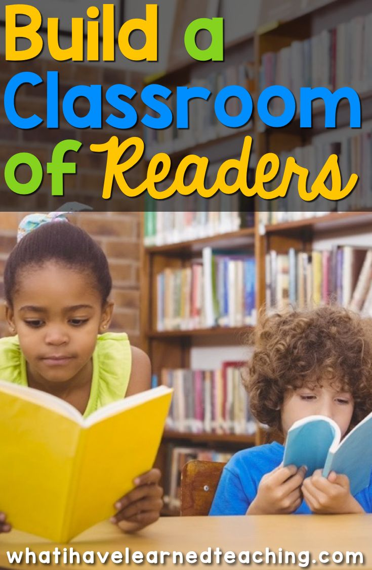 Build a classroom of readers by creating an inviting classroom environment, providing a classroom routine that allows for a lot of reading, and working good books into your curriculum.