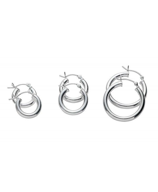 24d4429338661 3 Set Pair Hoop Earrings Set 3mm Wide - CH187CZLHOW | Designer ...