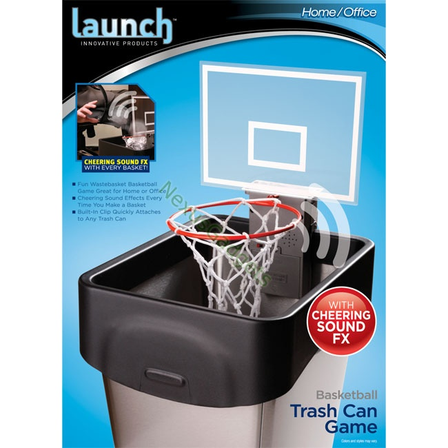 Portable Basketball Trash Can Toy W Cheering Sound Need A
