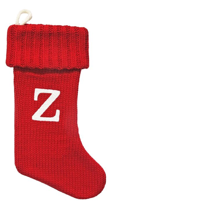 Make the holiday sparkle come alive with this Knit Monogram Stocking from Wondershop™. The lovely knit monogram Christmas stocking featuring a striking initial against a contrasting base, adding a bit of personalized charm to your holiday festivities. With a cozy knit texture and ribbed folded trim, it looks so cute just above the fireplace. Whether you're welcoming a new family member or collecting one for everyone in the family, make your Christmas holidays special with this th...