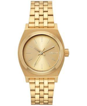 Nixon Women's Medium Time Teller Stainless Steel Bracelet Watch 31mm - Gold