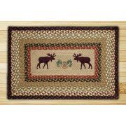 Earth Rugs Moose Rectangle Tan Patch Area Rug