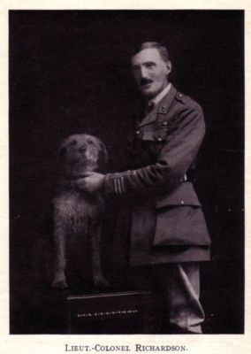 E. H. Richardson and one of his Airedale Terriers - 1920's