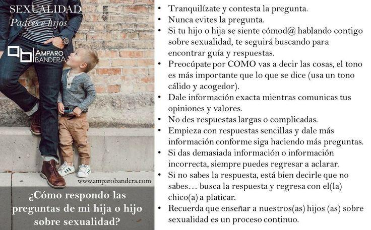 ¿Cómo responder a las preguntas de mi hijo o hija sobre sexualidad?  #EducaciónSexual #Sexualidad #Hijos #Padres #PadresEHijos