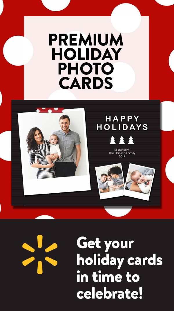 Save Big on Holiday Cards at Walmart. Design premium quality cards today and check out our free shipping and same-day in store pickup options.