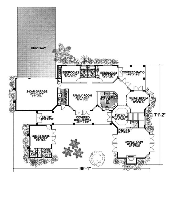 Buckhead ridge sunbelt home guest suite for House plans with guest suite