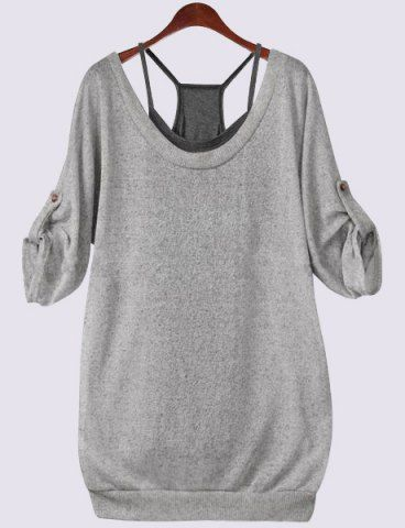 GET $50 NOW | Join RoseGal: Get YOUR $50 NOW!http://www.rosegal.com/plus-size-tops/scoop-neck-half-sleeve-lace-up-712594.html?seid=5899855rg712594