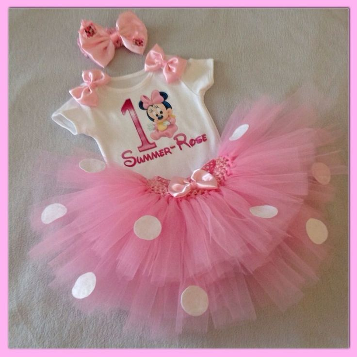 Baby Girls Minnie Mouse 1st First Birthday Personalised Cake Smash Outfit in Baby, Clothes, Shoes & Accessories, Girls' Clothing (0-24 Months) | eBay